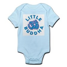 Little Buddha Yoga Symbol Baby Rompers Blue