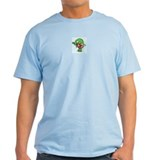 """the biting zelda minish cap"" grey t-shirt"