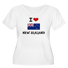 I HEART NEW ZEALAND FLAG Plus Size T-Shirt