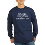 Happy Holidays Long Sleeve Dark T-Shirt