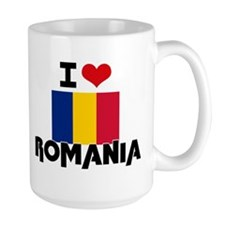 I HEART ROMANIA FLAG Mug