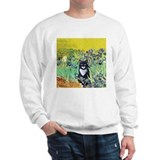 Irises &amp; Cat Sweatshirt