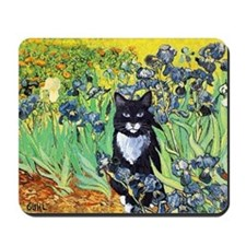 Irises & Cat Mousepad