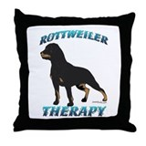 Rottweiler Therapy Throw Pillow