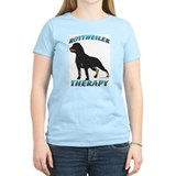 Rottweiler Therapy Women's Pink T-Shirt