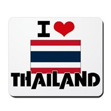 I HEART THAILAND FLAG Mousepad