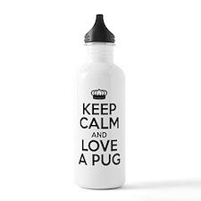 Keep Calm Pug Water Bottle