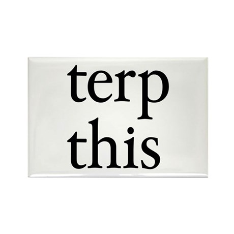 Terp This White Rectangle Magnet (100 pack)