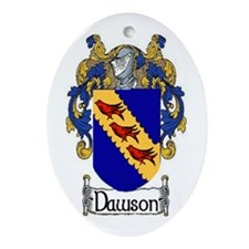 Dawson Coat of Arms Ornament (Oval)