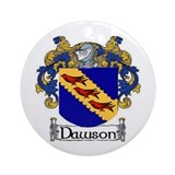 Dawson Coat of Arms Ornament (Round)