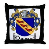Dawson Coat of Arms Throw Pillow