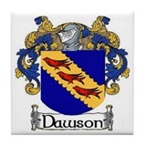Dawson Coat of Arms Tile Coaster