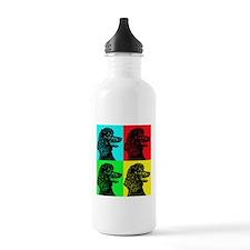 Poodle Pop Art Water Bottle