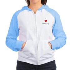 I heart teaching Women's Raglan Hoodie