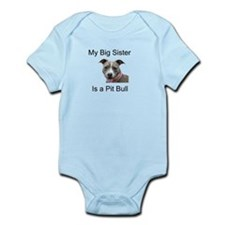 Pit Bull Big Sister Infant Bodysuit