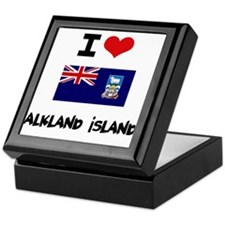 I HEART FALKLAND ISLANDS FLAG Keepsake Box