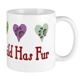 Furry Grandchild Small Mug