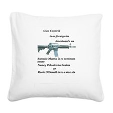 pro 2nd amendment, anti Obama,pro gun Square Canva