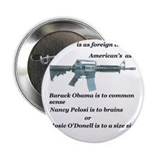 "pro 2nd amendment, anti Obama,pro gun 2.25"" Button"