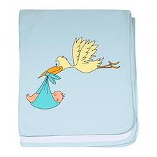 Stork Delivering a Baby baby blanket