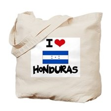 I HEART HONDURAS FLAG Tote Bag