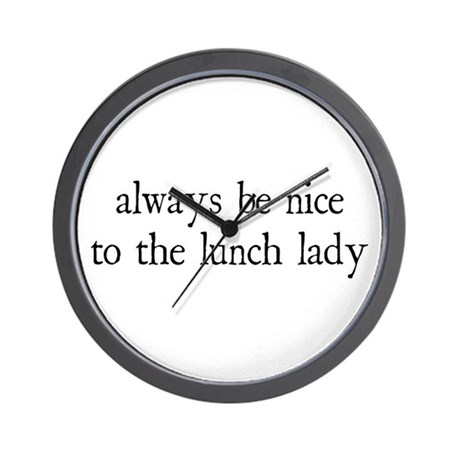 Lunch Lady Wall Clock