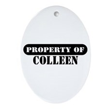 Property of Colleen Oval Ornament