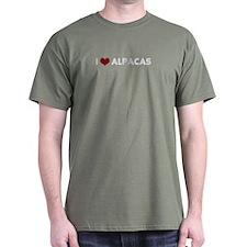 I Love Alpacas (Black) T-Shirt