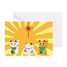 Lucky Cats Greeting Card