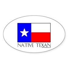 Native Texan Oval Decal