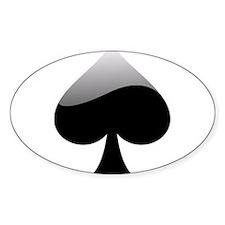 Black Spade Playing Card Symbol Decal