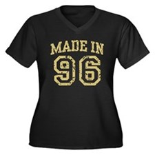 Made In 96 Women's Plus Size V-Neck Dark T-Shirt