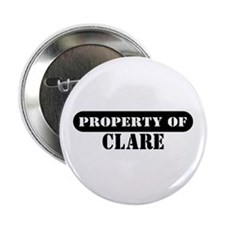 "Property of Clare 2.25"" Button (10 pack)"