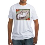 Nesting Pigeon Christmas Fitted T-Shirt