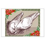 Nesting Pigeon Christmas Large Poster