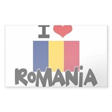 I HEART ROMANIA FLAG Decal