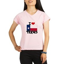 I HEART TEXAS FLAG Peformance Dry T-Shirt