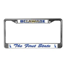 Delaware Flag Drk License Plate Frame