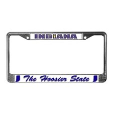 Indiana Flag Drk License Plate Frame