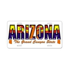 Arizona Flag Canyon Drk Aluminum License Plate