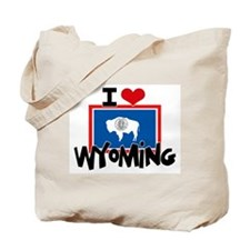 I HEART WYOMING FLAG Tote Bag