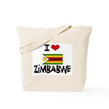 I HEART ZIMBABWE FLAG Tote Bag