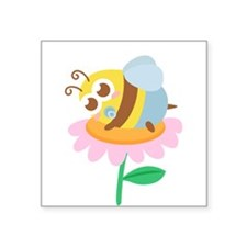 Cute Baby Bee resting on a flower Sticker