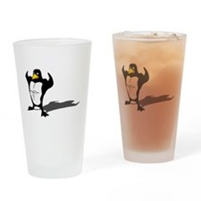 Strong Penguin Drinking Glass