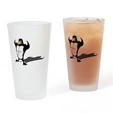 Strong Penguin Drinking Glass