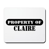 Property of Claire Mousepad