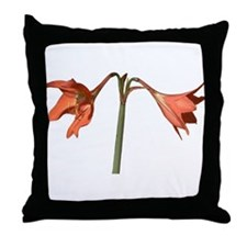 Flowers of Brazil Throw Pillow (orange)