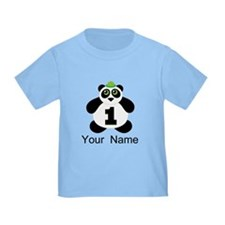Personalized Panda 1st Birthday T-Shirt