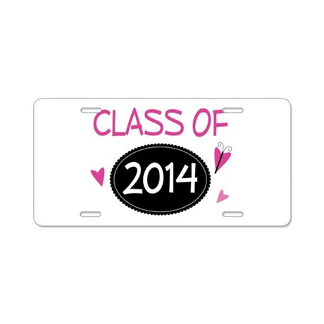 Class of 2014 (butterfly) Aluminum License Plate