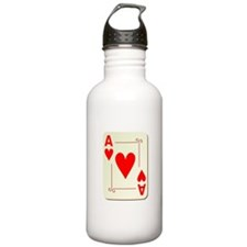 Ace of Hearts Playing Card Water Bottle
